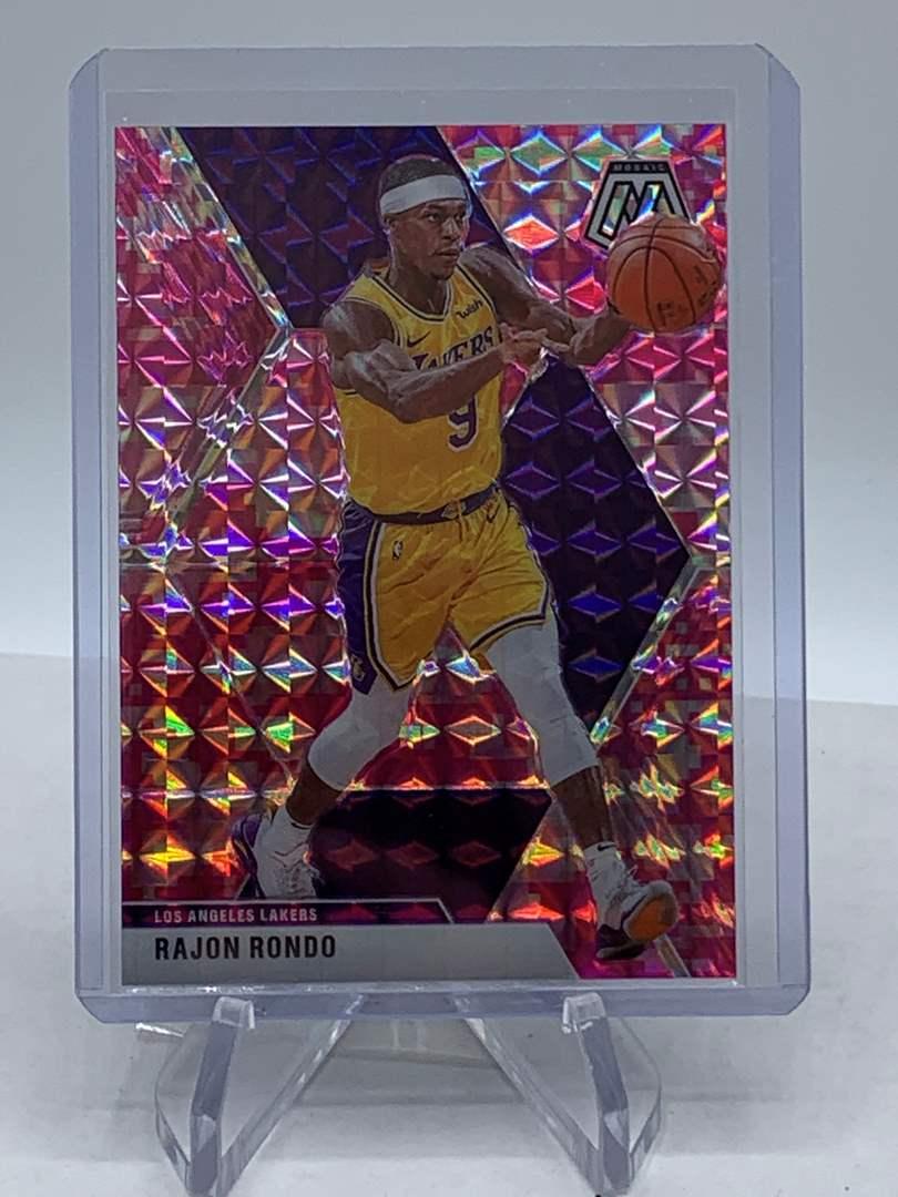 Lot # 260 2019-20 Panini Mosaic RAJON RONDO Lakers (main image)