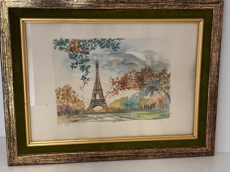 Lot # 43 Watercolor Landscape Painting (main image)