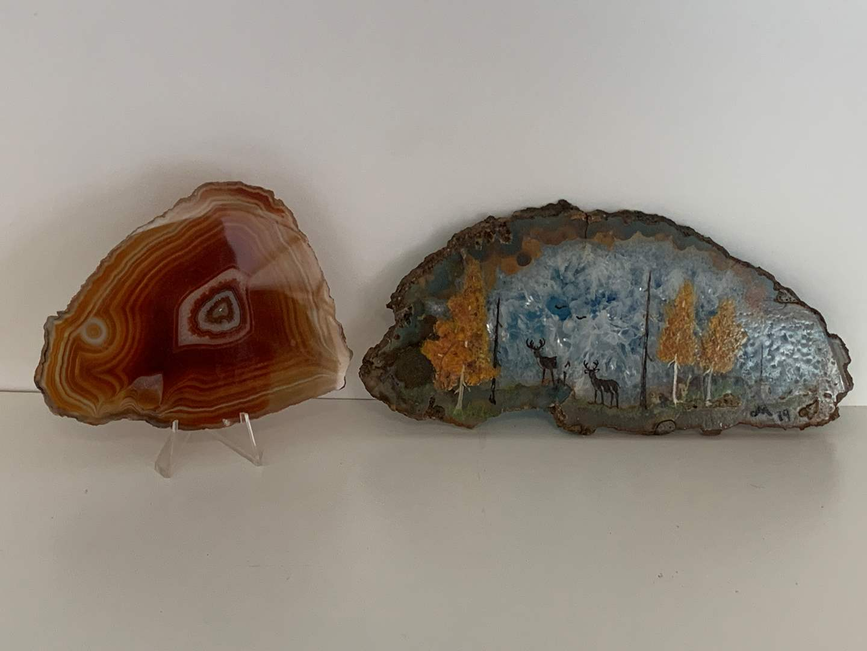 Lot # 71 Geode plus Art on Geode (main image)