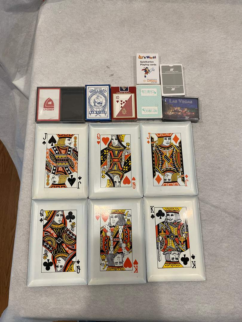 Lot # 93 Lot of Playing Cards and Playing Card Trays (main image)