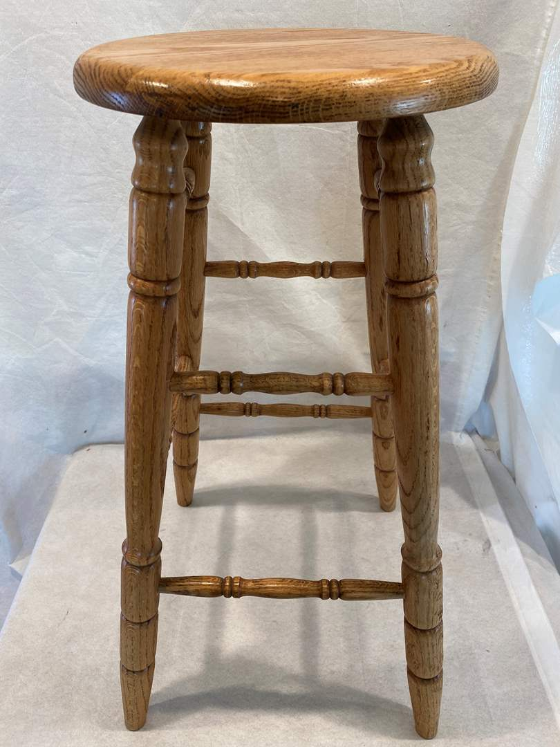 Lot # 108 Wooden Stool Chair (main image)