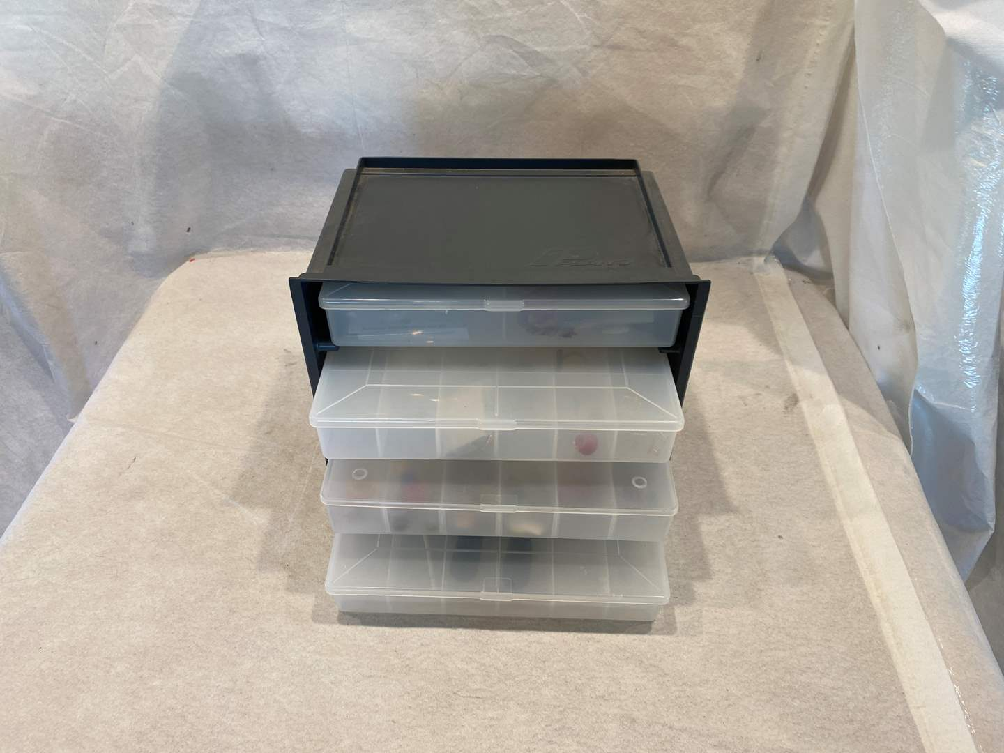 Lot # 115 Small Storage Box ( Items Included) (main image)