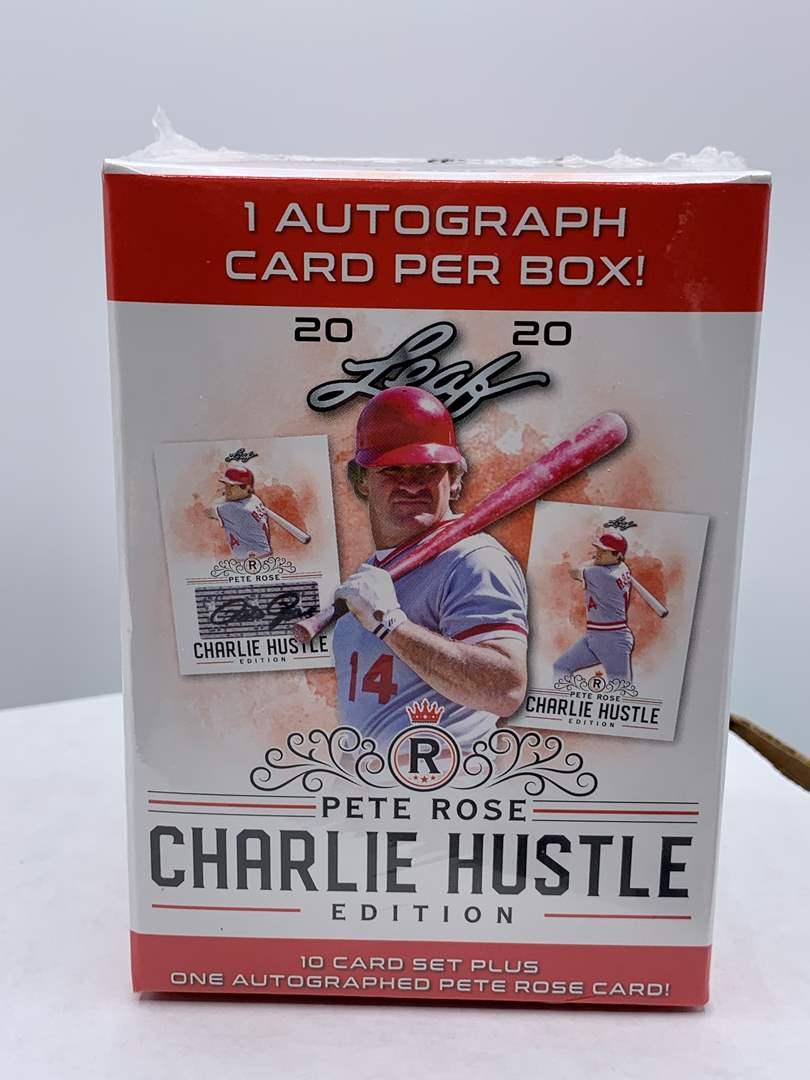 Lot # 68 Sealed Box 2020 Leaf Pete Rose Charlie Hustle Edition Box (main image)
