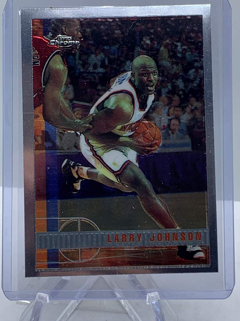 Lot # 74 1998 Topps Chrome NBA LARRY JOHNSON (main image)