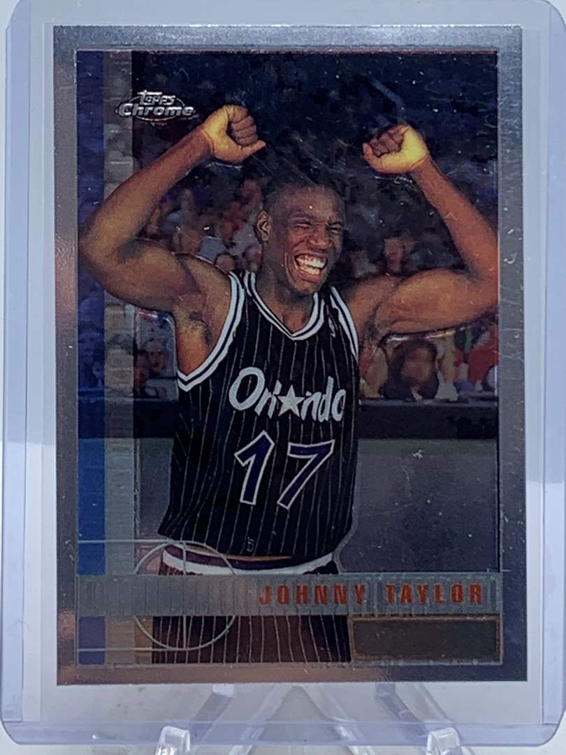 Lot # 93 1998 Topps Chrome NBA JOHNNY TAYLOR (main image)