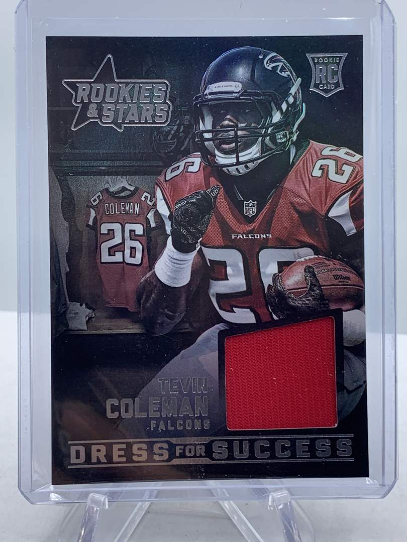 Lot # 108 2015 Panini Rookies & Stars TEVIN COLEMAN RC Dress for Success Falcons (main image)