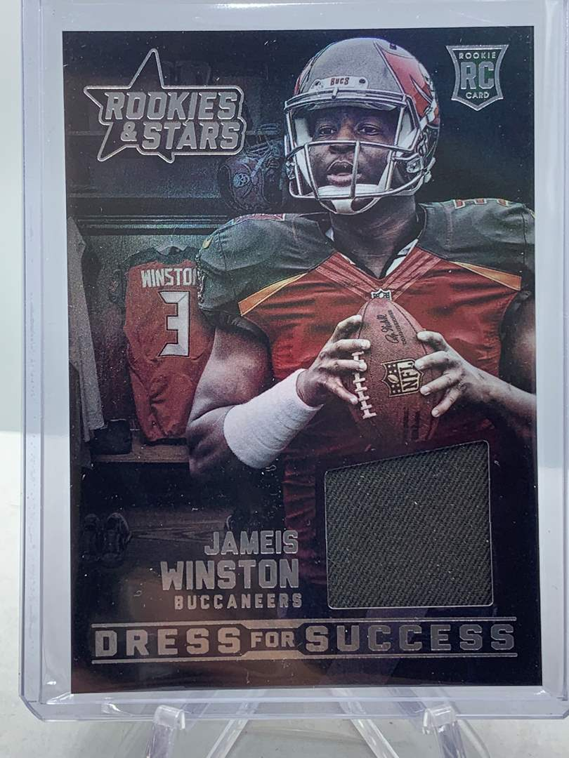 Lot # 109 2015 Panini Rookies & Stars JAMES WINSTON RC Dress for Success Buccaneers (main image)