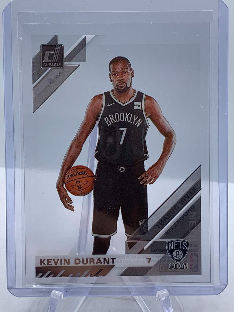 Lot # 114 2020 Panini Clearly Donruss KEVIN DURANT Nets (main image)