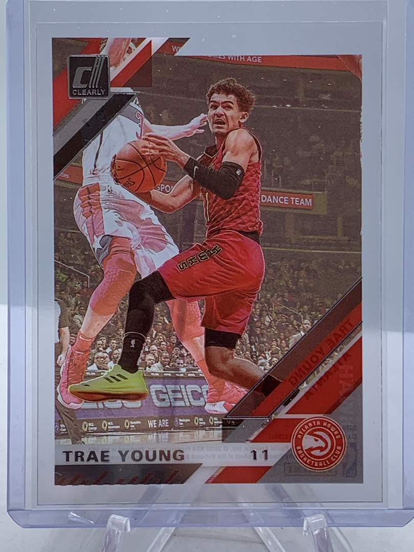 Lot # 123 2020 Panini Clearly Donruss TRAE YOUNG Hawks (main image)