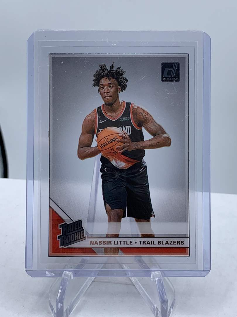 Lot # 126 2020 Panini Clearly Donruss NASSIR LITTLE Rated Rookie Trail Blazers (main image)