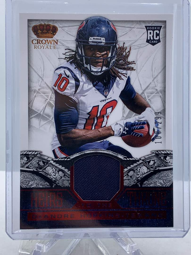 Lot # 134 2013 Panini Crown Royale DEANDRE HOPKINS Heirs to the Throne Relic #100/299 Texans (main image)