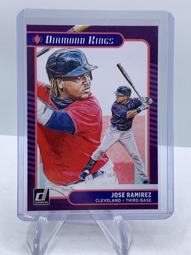 Lot # 178 2021 Panini Donruss Baseball JOSE RAMIREZ Diamond Kings (main image)