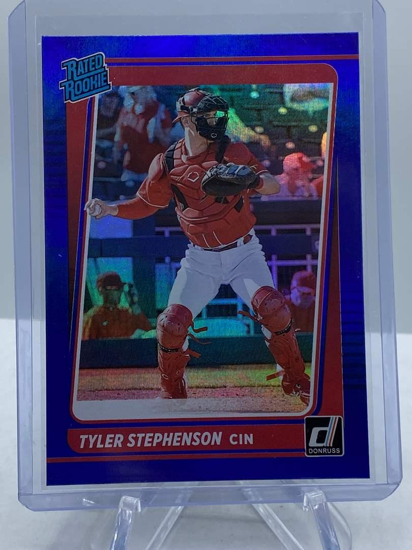 Lot # 182 2021 Panini Donruss Baseball TYLER STEPHENSON Rated Rookie (main image)