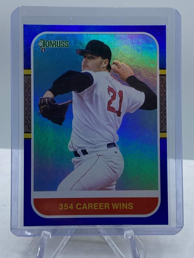 Lot # 183 2021 Panini Donruss Baseball ROGER CLEMENS 354 Career Wins (main image)