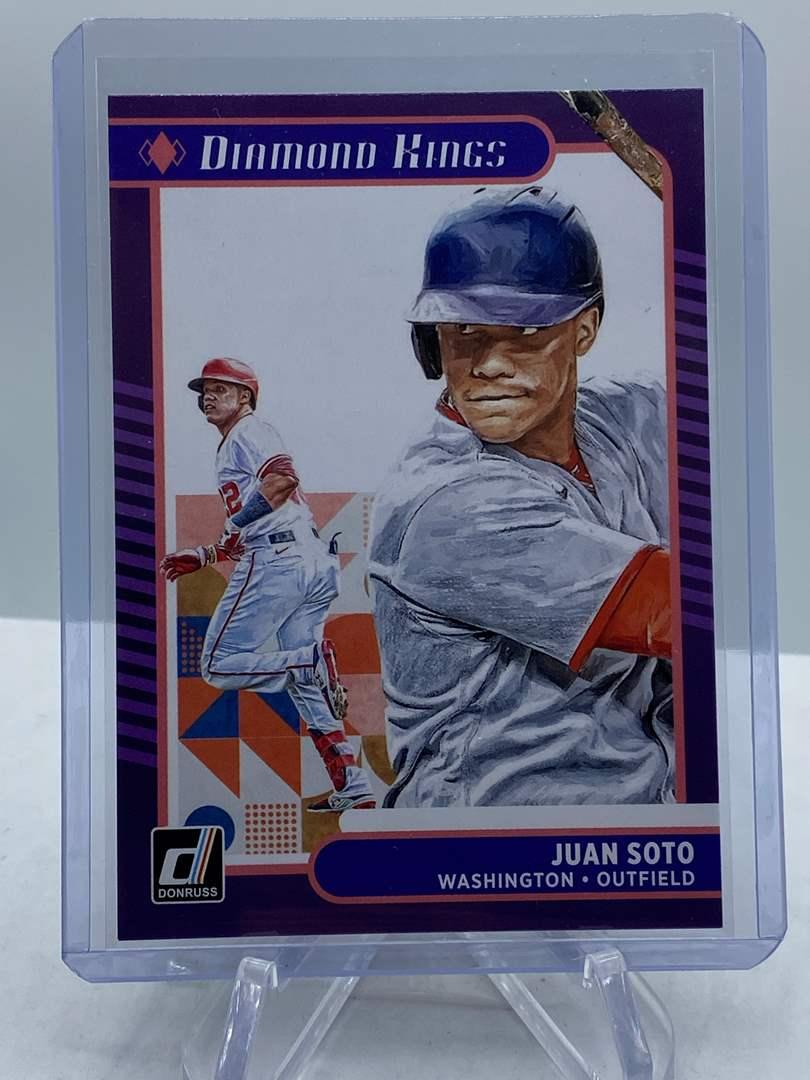 Lot # 184 2021 Panini Donruss Baseball JUAN SOTO Diamond Kings (main image)