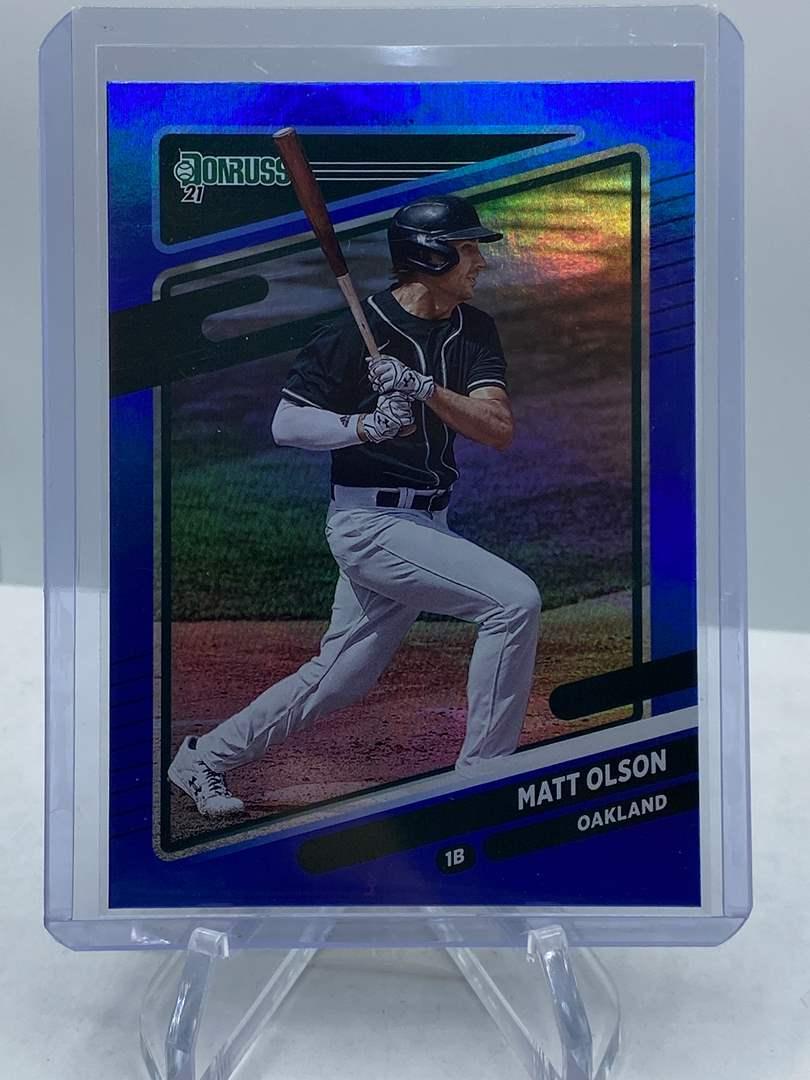 Lot # 188 2021 Panini Donruss Baseball MATT OLSON (main image)