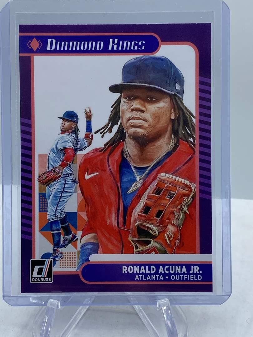 Lot # 189 2021 Panini Donruss Baseball RONALD ACUNA JR Diamond Kings (main image)