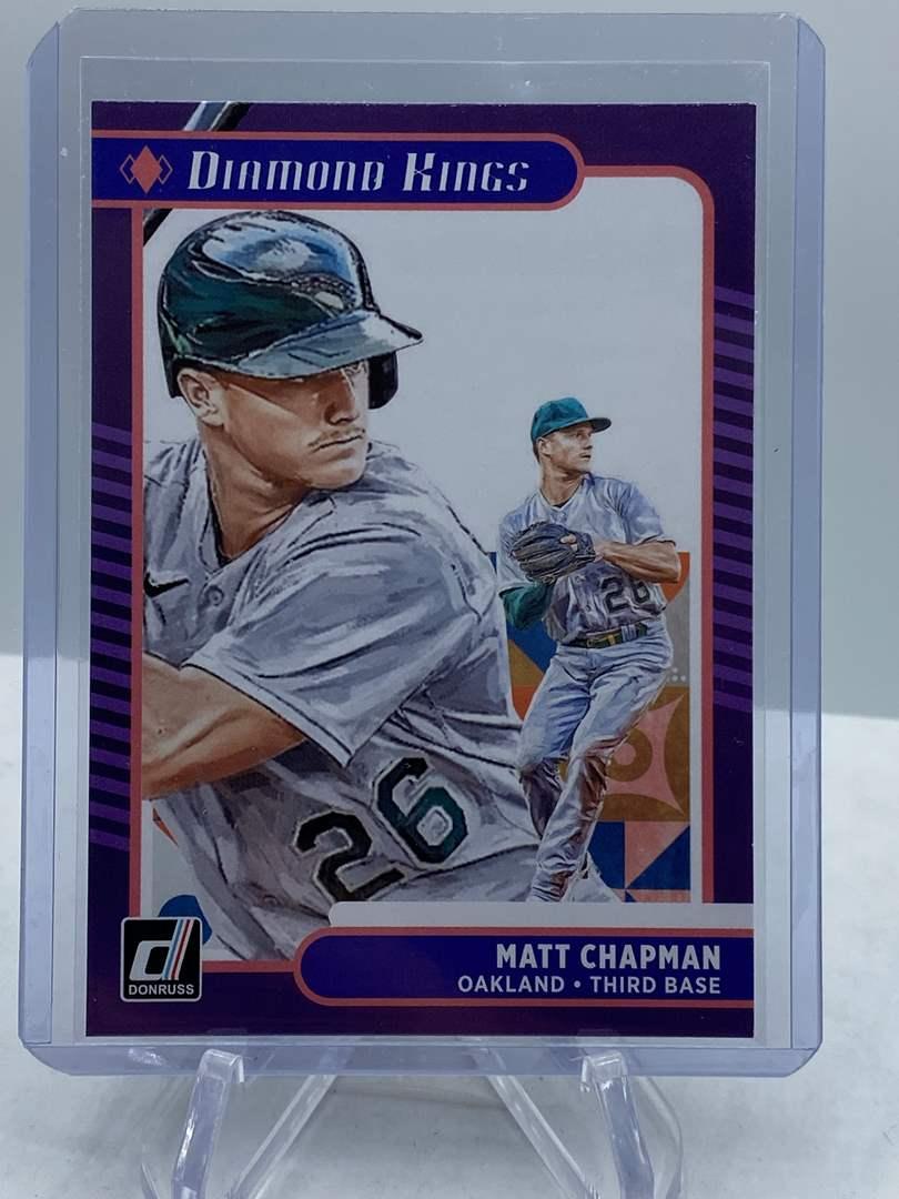 Lot # 191 2021 Panini Donruss Baseball MATT CHAPMAN Diamond Kings (main image)