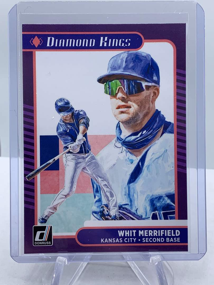 Lot # 201 2021 Panini Donruss Baseball WHIT MERRIFIELD Diamond Kings (main image)