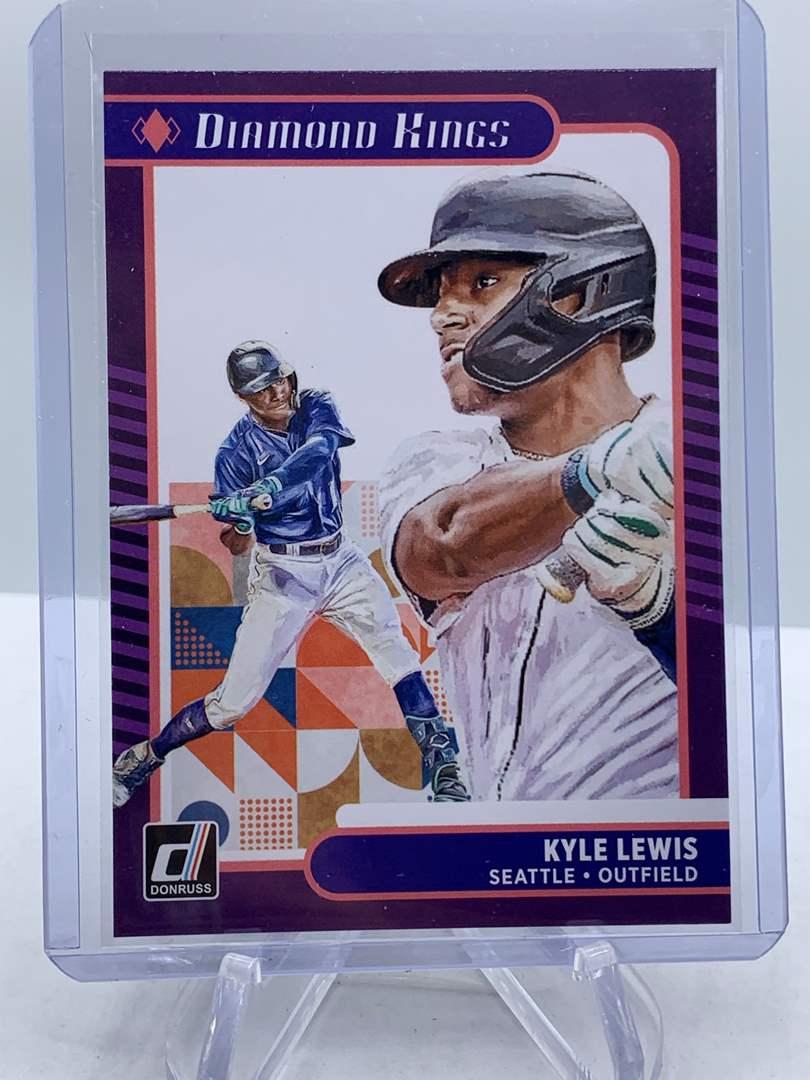Lot # 204 2021 Panini Donruss Baseball KYLE LEWIS Diamond Kings (main image)