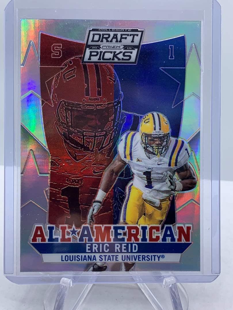 Lot # 207 2015 Panini Collegiate Draft Picks Football ERIC REID All American (main image)