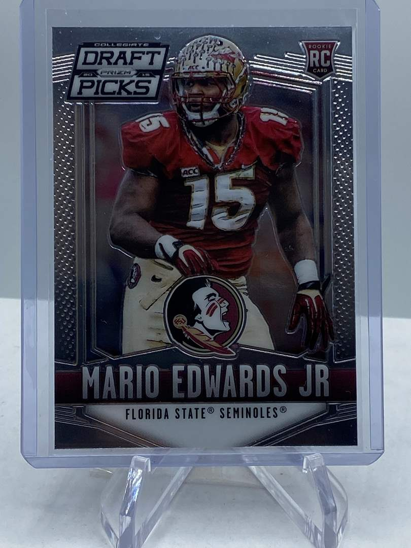 Lot # 224 2015 Panini Collegiate Draft Picks Football MARIO EDWARDS JR RC (main image)