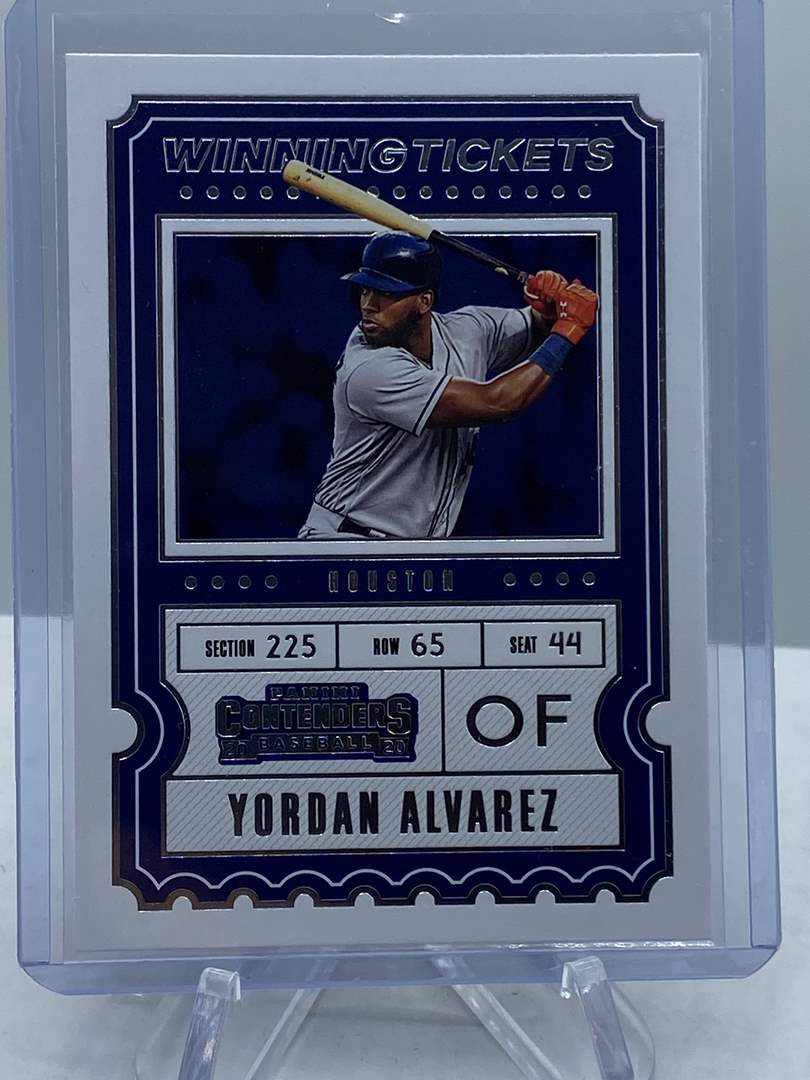 Lot # 272 2020 Panini Contenders Baseball YORDAN ALVAREZ Winning Tickets (main image)