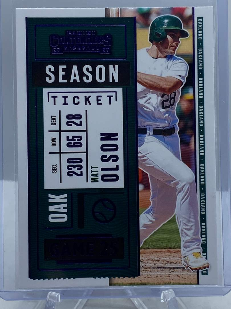 Lot # 279 2020 Panini Contenders Baseball MATT OLSON Season Ticket (main image)