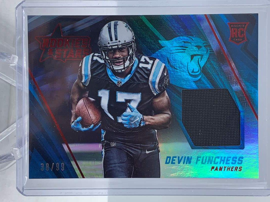 Lot # 112 2015 Panini Rookies & Stars DEVIN FUNCHESS RC Relic #38/99 Panthers (main image)