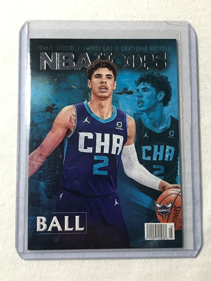Lot # 52 2020-2021 Panini Hoops Rookie Special LAMELO BALL (main image)