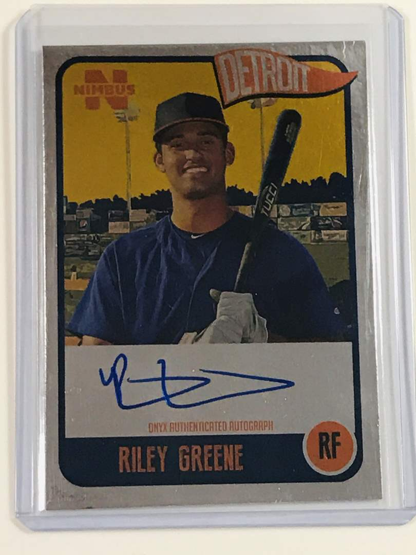 Lot # 96 2020 Onyx Nimbus RILEY GREENE Silver Auto /325 (main image)
