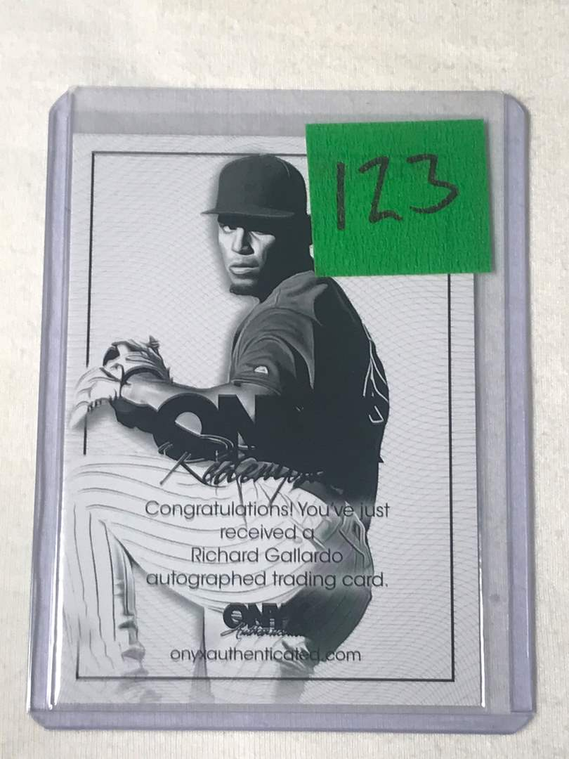 Lot # 123 2020 Onyx Nimbus RICHARD GALLARDO Auto Redemption Card (main image)