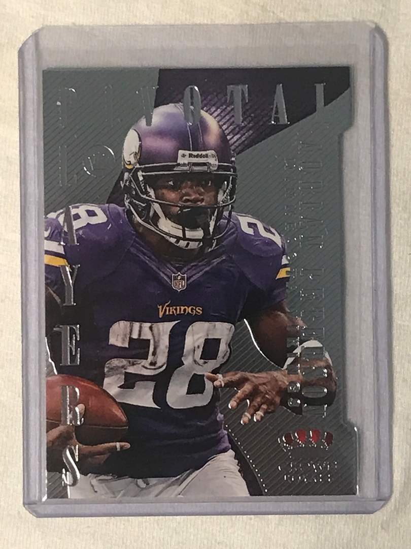 Lot # 134 2013 Panini Crown Royale Pivotal Players ADRIAN PETERSON (main image)