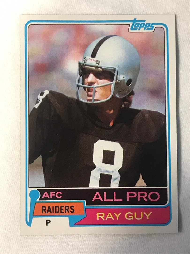 Lot # 145 1981 Topps All Pro RAY GUY (main image)