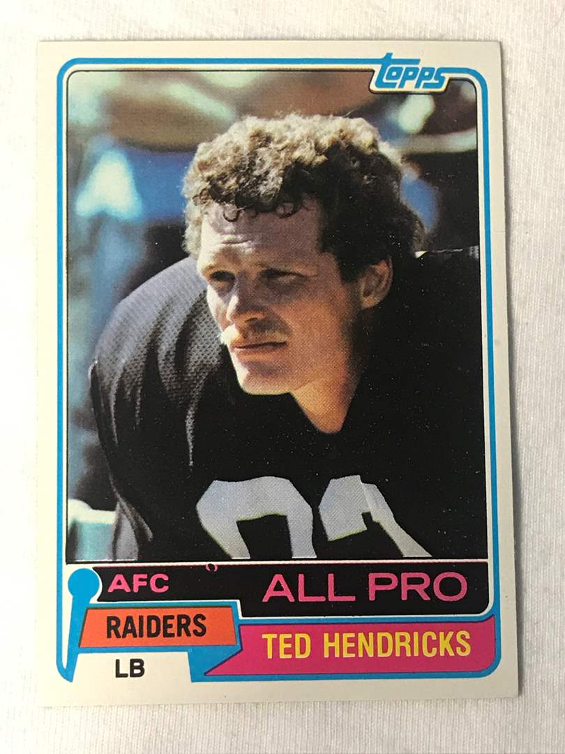 Lot # 149 1981 Topps All Pro TED HENDRICKS (main image)