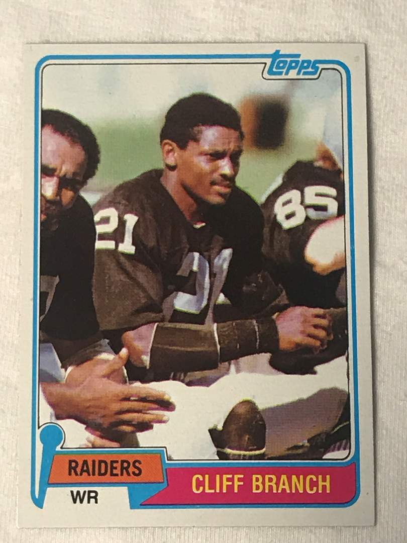 Lot # 150 1981 Topps CLIFF BRANCH (main image)