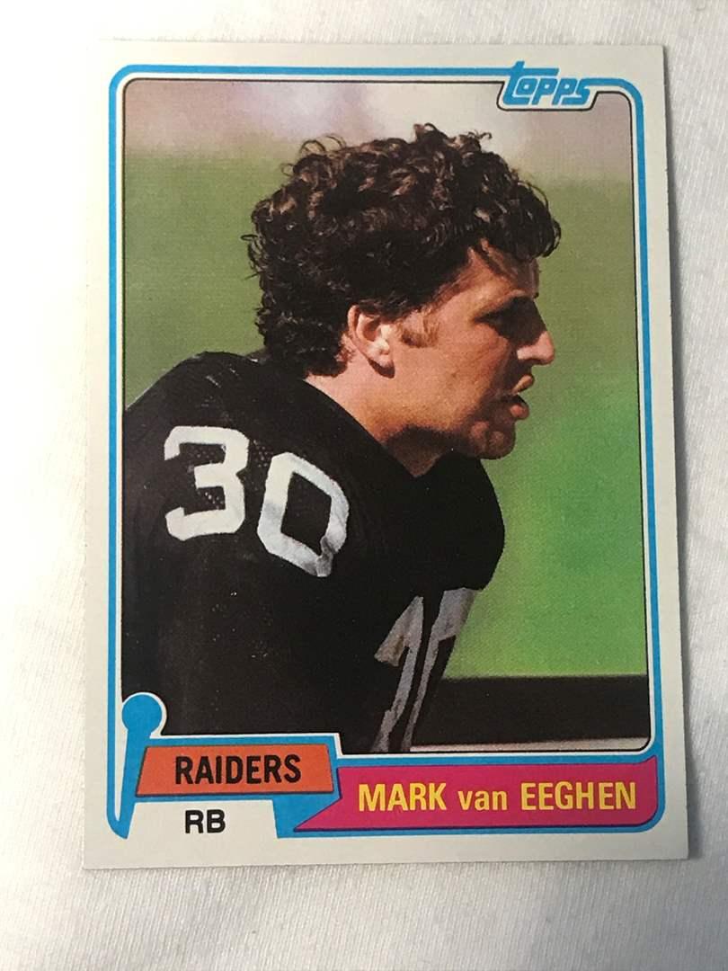 Lot # 155 1981 Topps MARK VAN EEGHEN (main image)