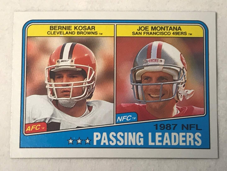 Lot # 172 1988 Topps Passing leaders BERNIE KOSAR/JOE MONTANA (main image)