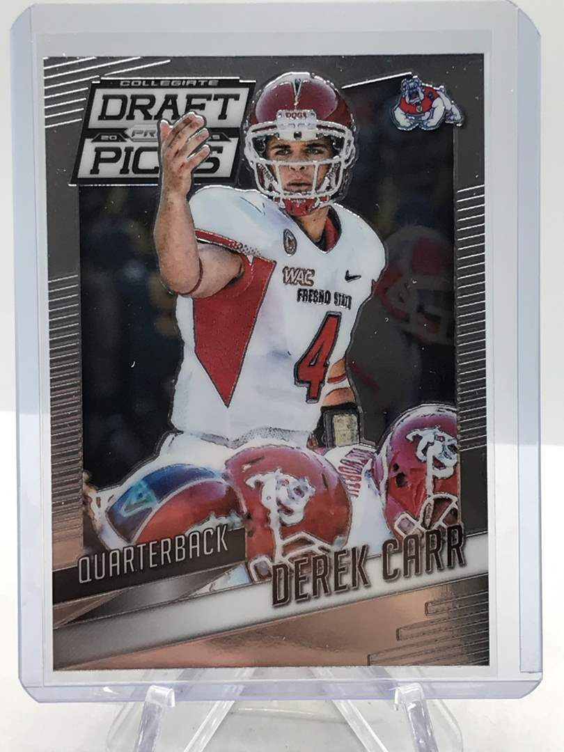Lot # 182 2015 Panini Collegiate Draft Picks DEREK CARR (main image)