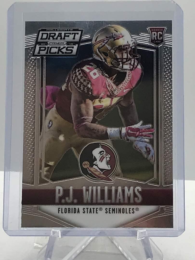Lot # 189 2015 Panini Collegiate Draft Picks RC P.J. WILLIAMS (main image)