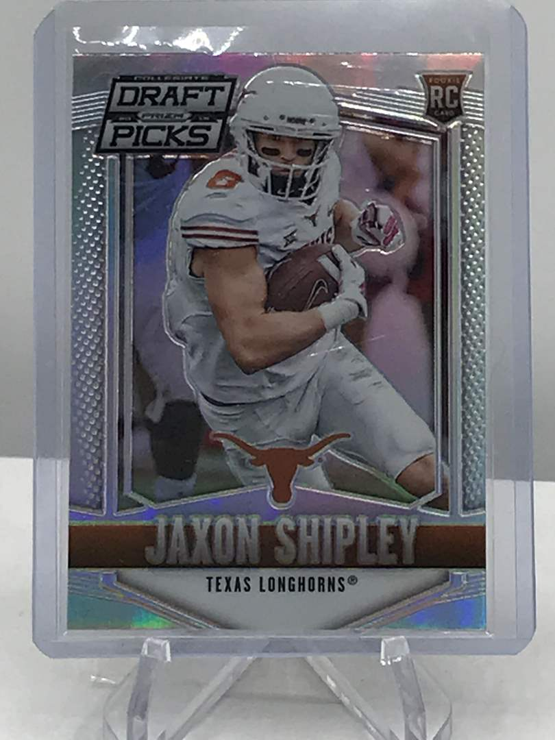 Lot # 196 2015 Panini Collegiate Draft Picks PRIZM RC JAXON SHIPLEY (main image)