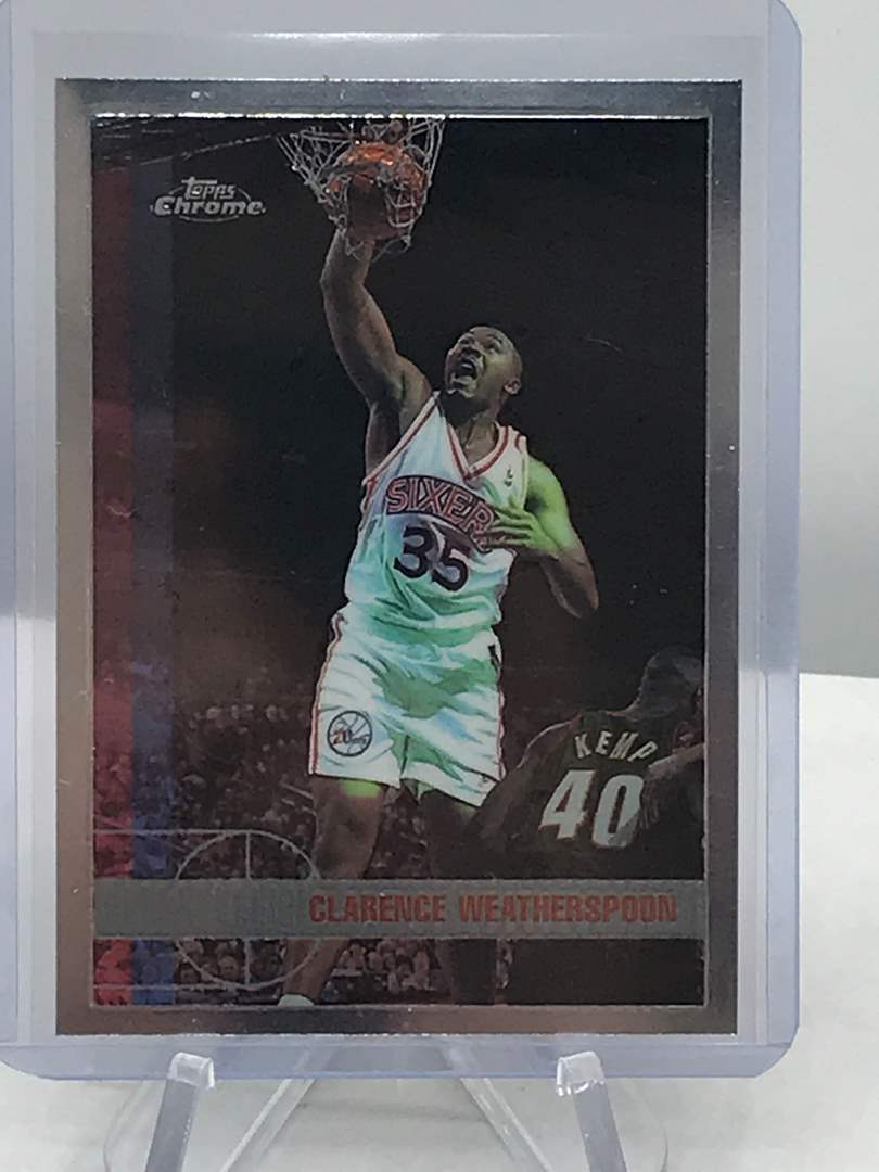 Lot # 215 1997-98 Topps Chrome CLARENCE WEATHERSPOON (main image)