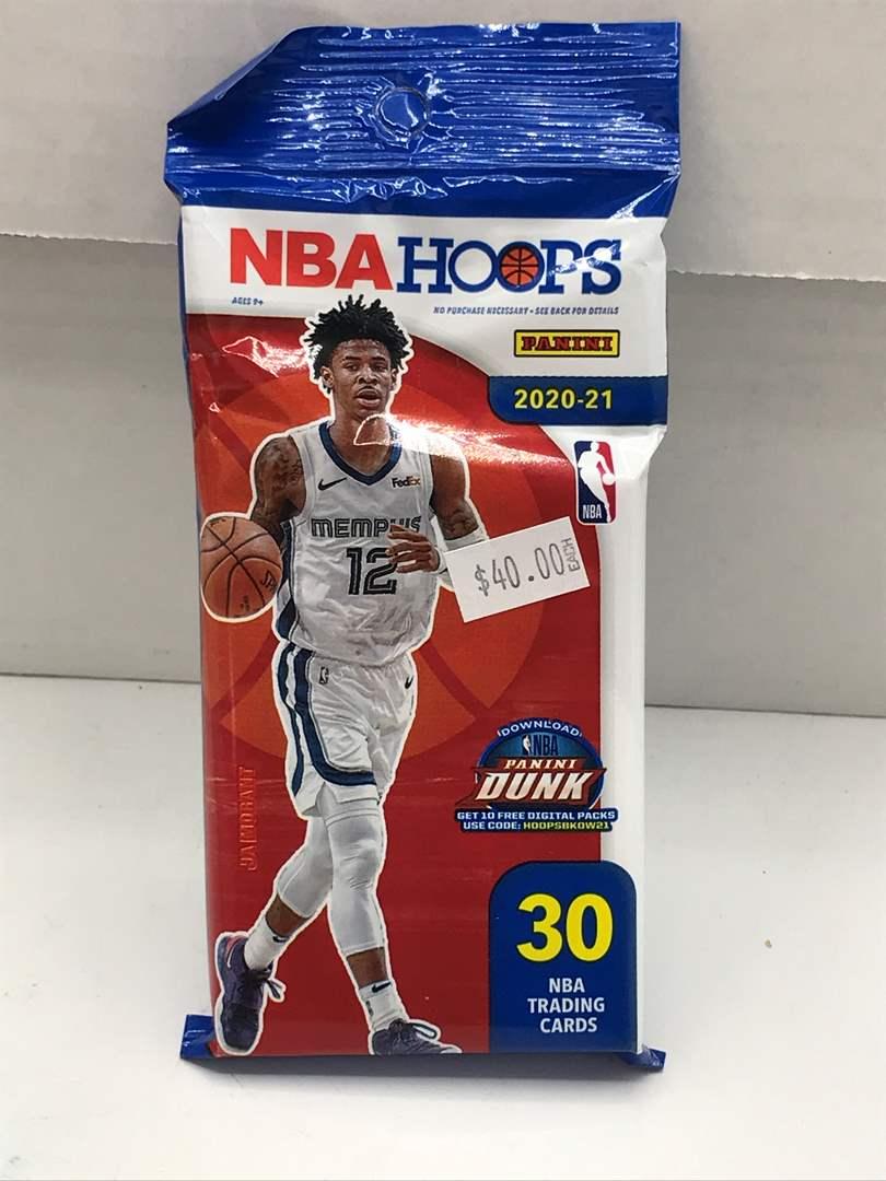 Lot # 240 Sealed Pack 2020-21 Panini NBA Hoops  (main image)