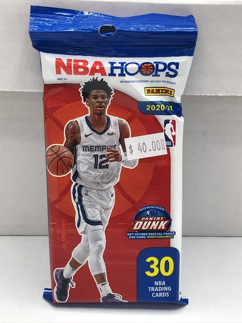 Lot # 244  Sealed Pack 2020-21 Panini NBA Hoops  (main image)