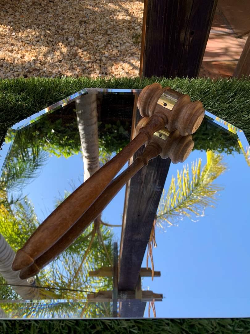Lot # 29 Vintage Wooden Gavel (main image)
