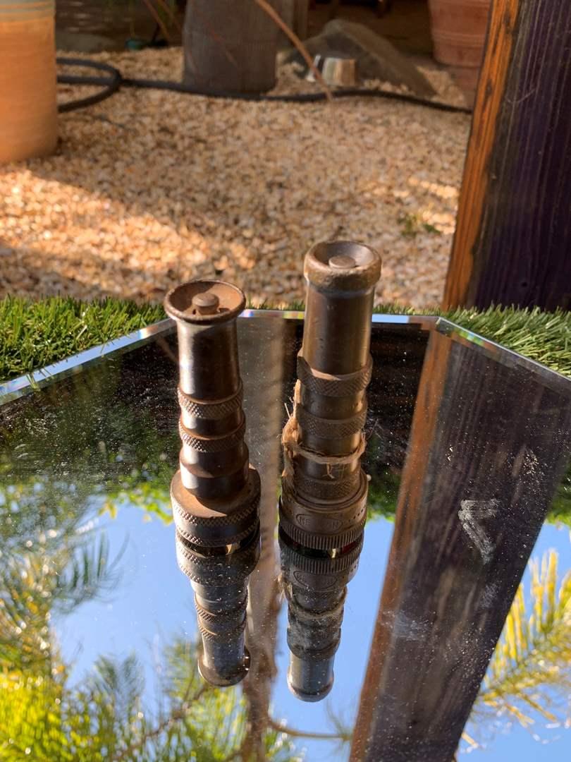 Lot # 30 Antique Water Hose Nozzels (main image)