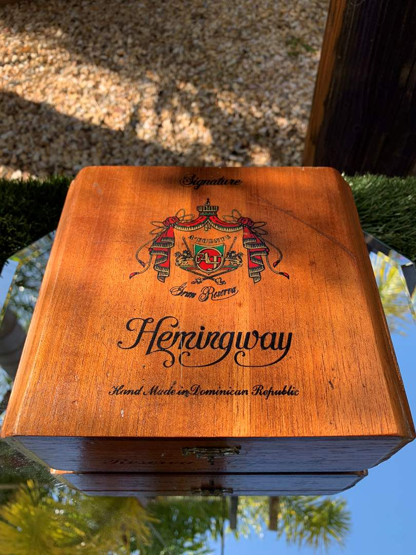 Lot # 44 Vintage Wooden Hemingway Cigar Box (main image)