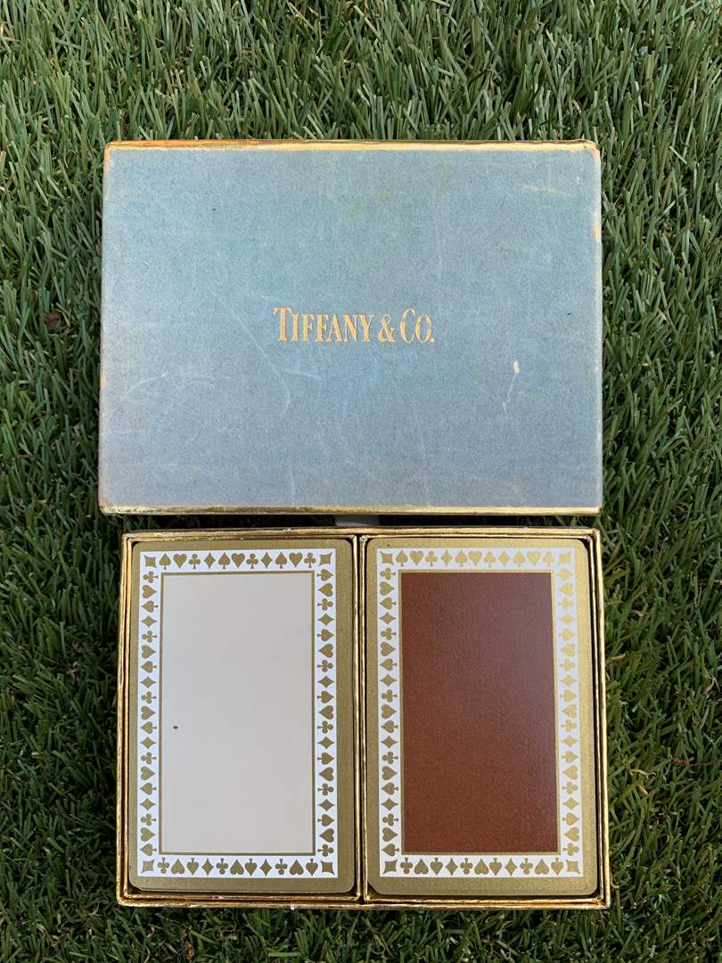 Lot # 46 Vintage Tiffany & Co Playing Cards Set (main image)