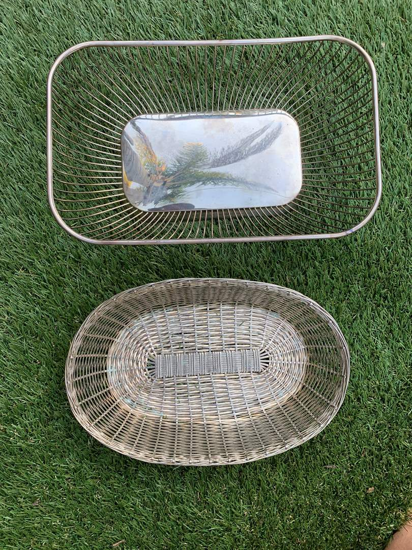 Lot # 40 Vintage Metal/Silver Plate Baskets (main image)