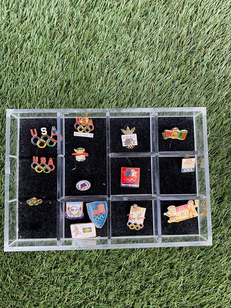 "Lot # 61 Vintage ""Olympics"" Collectible Pins (main image)"